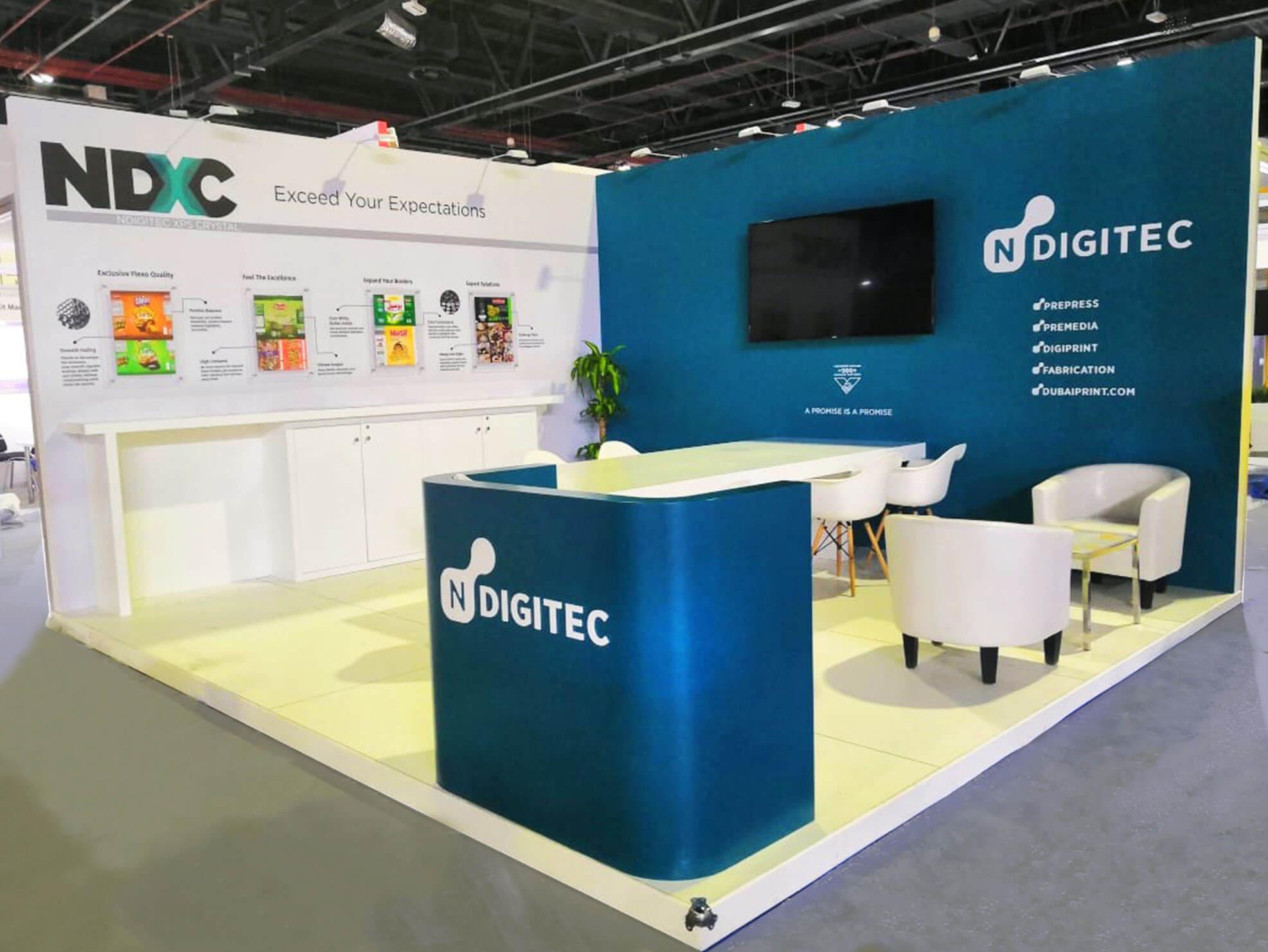 NDigitec's trade show photo booth design
