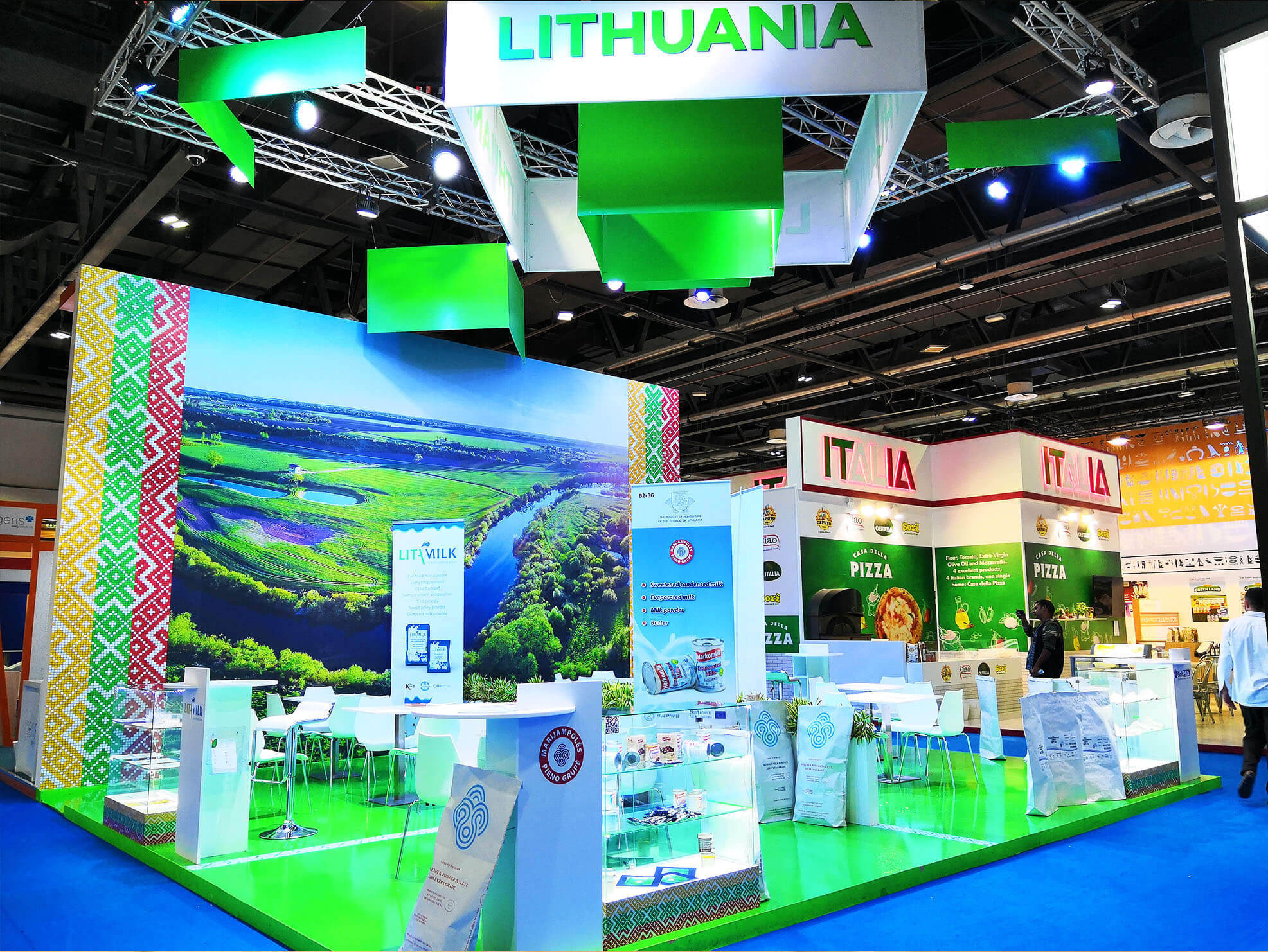Lithuania's trade show booth design
