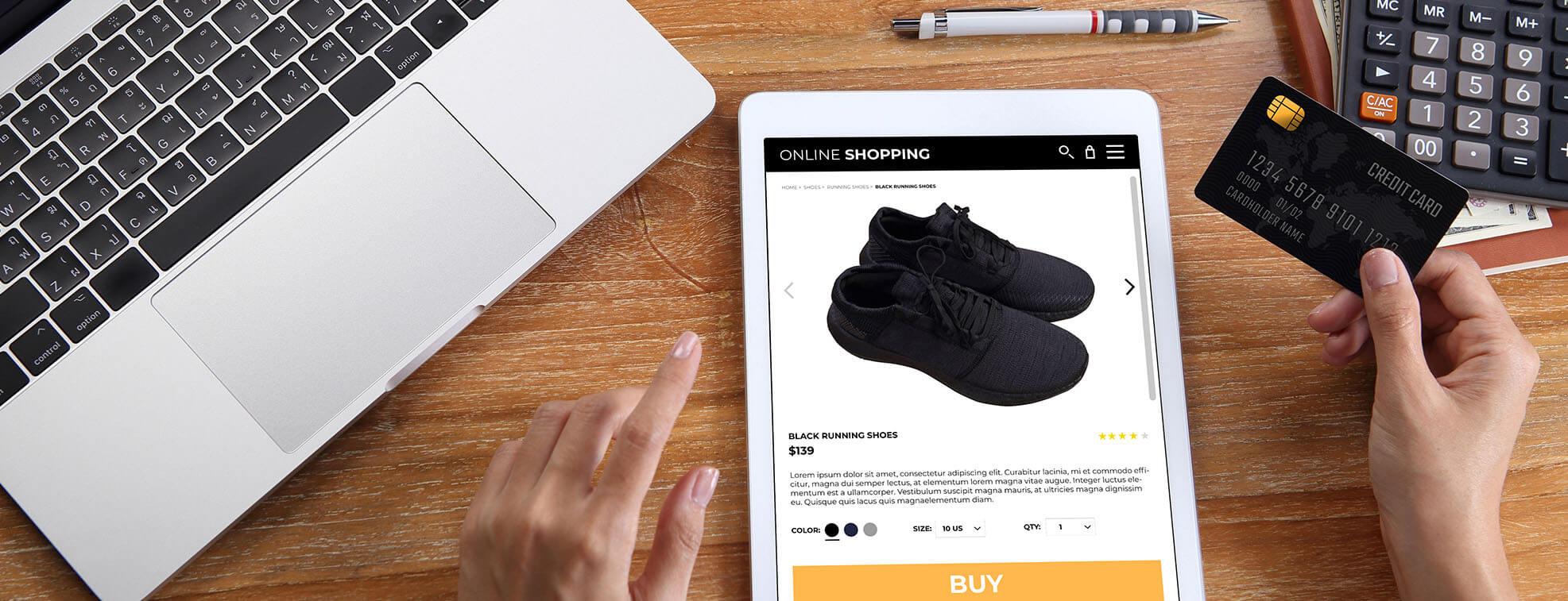 nice shoes and an iPad
