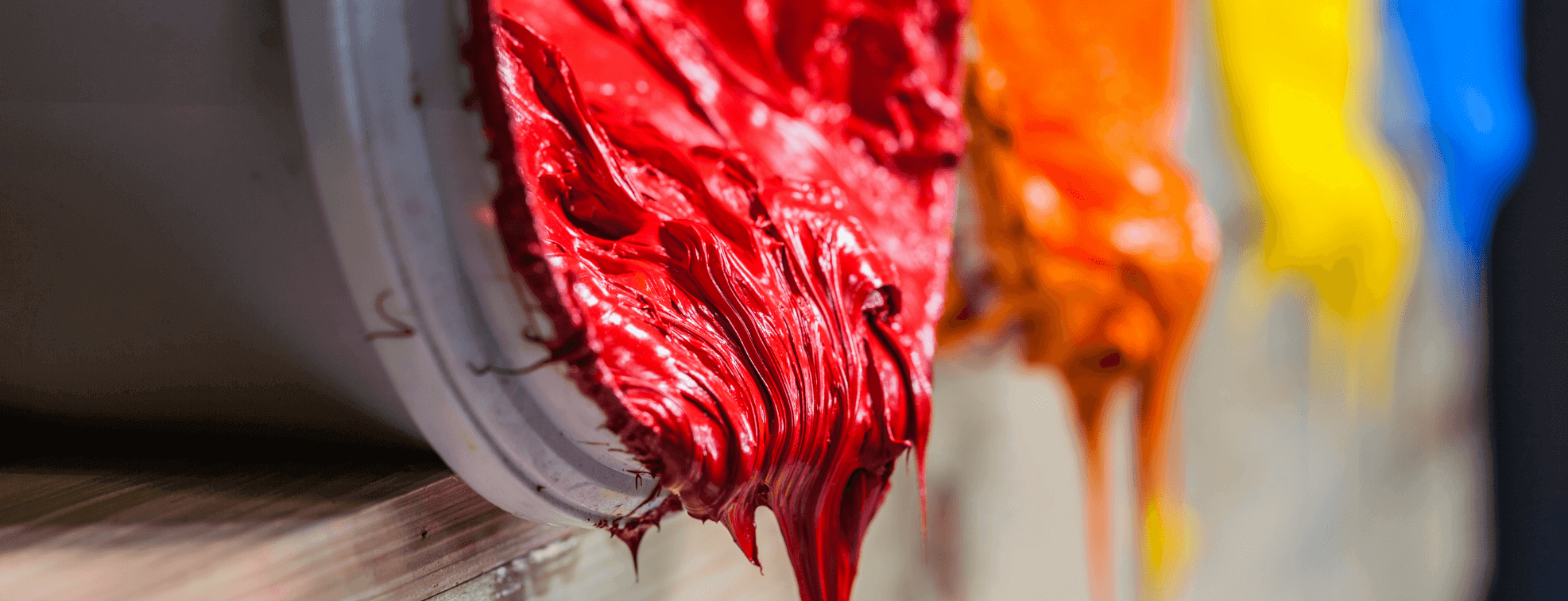Red textile printing ink