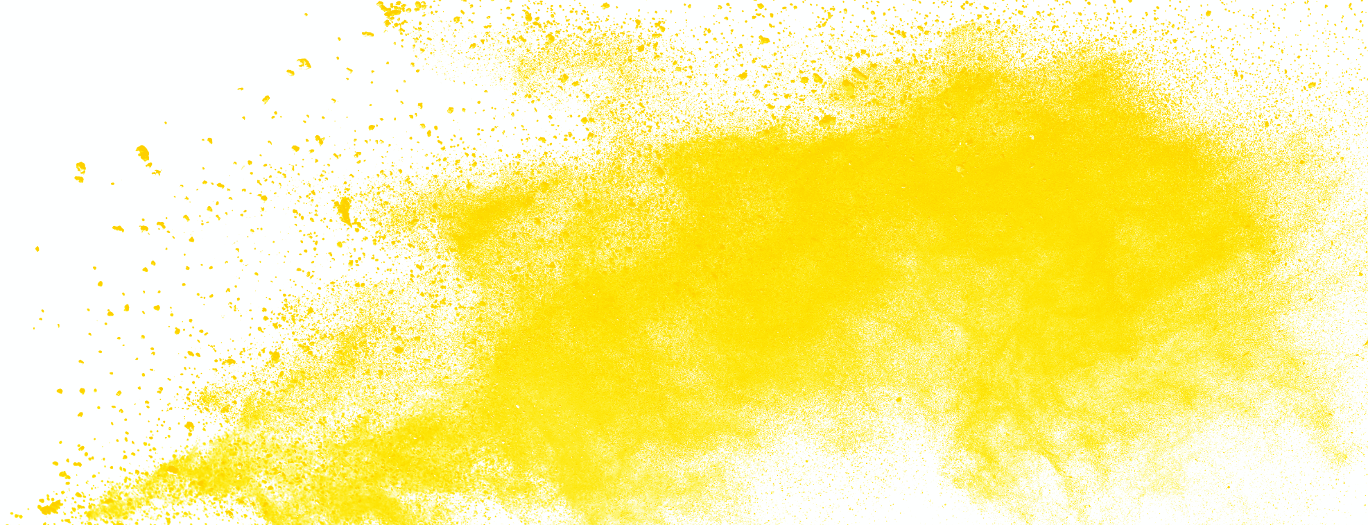 Rich yellow paint over white background