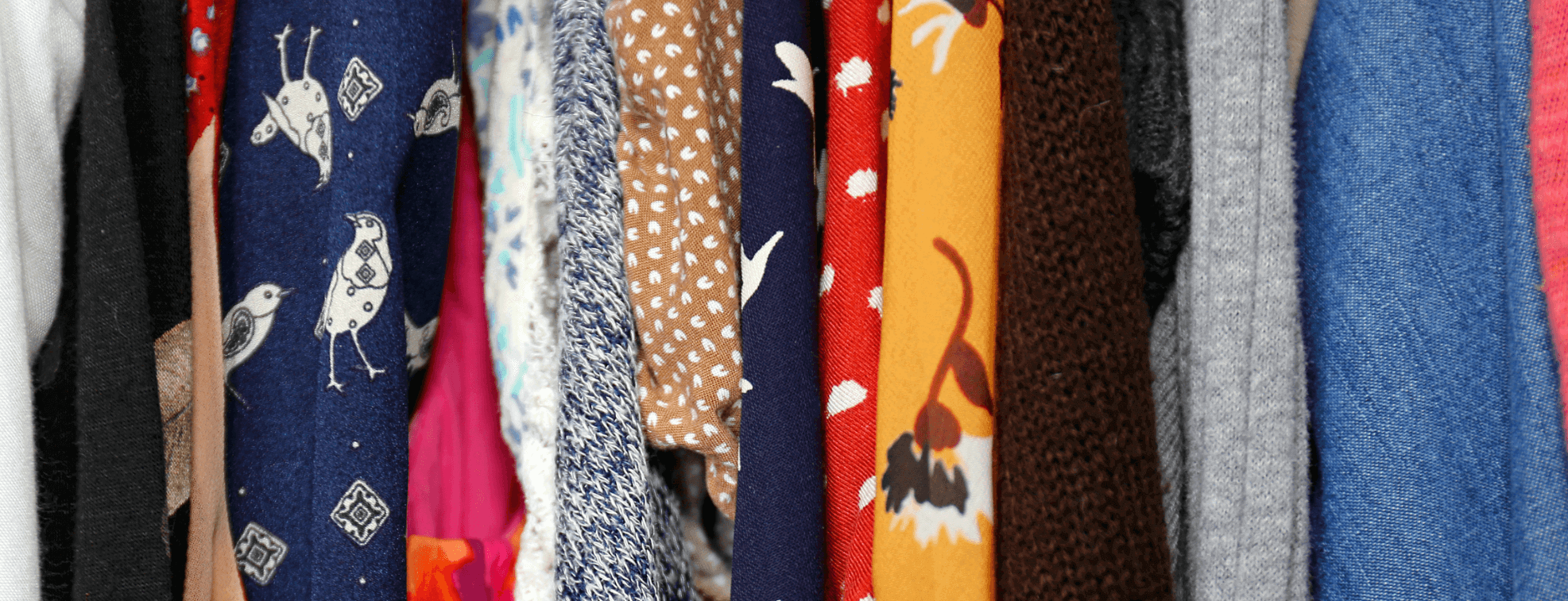 Clothes with different colorful patterns