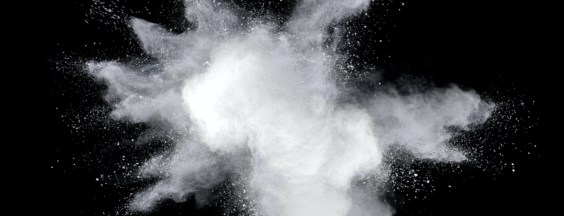 White smoke=looking paint over a black background